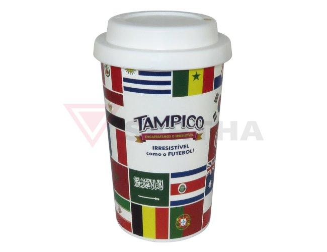 Copo 450ml PP In Mold Label c/ Tampa Star Personalizado