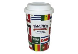 Copo Personalizado 450ml PP In Mold Label c/ Tampa Star